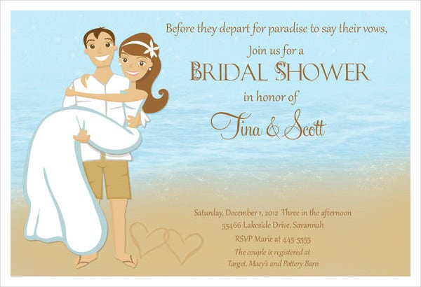 -Romantic Couples Bridal Shower Invitation