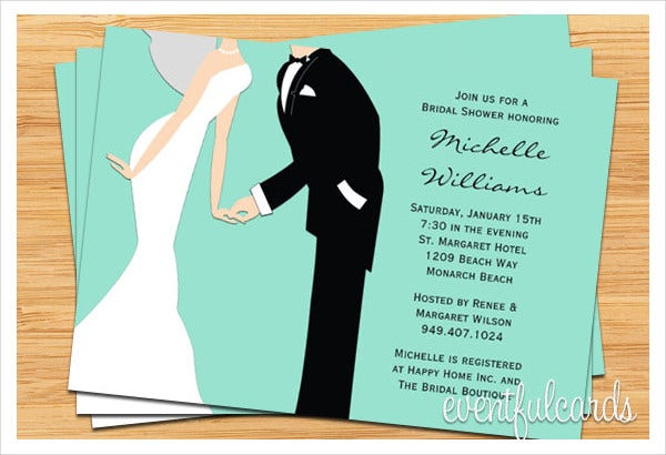 -Wedding Couples Bridal Shower Invitation
