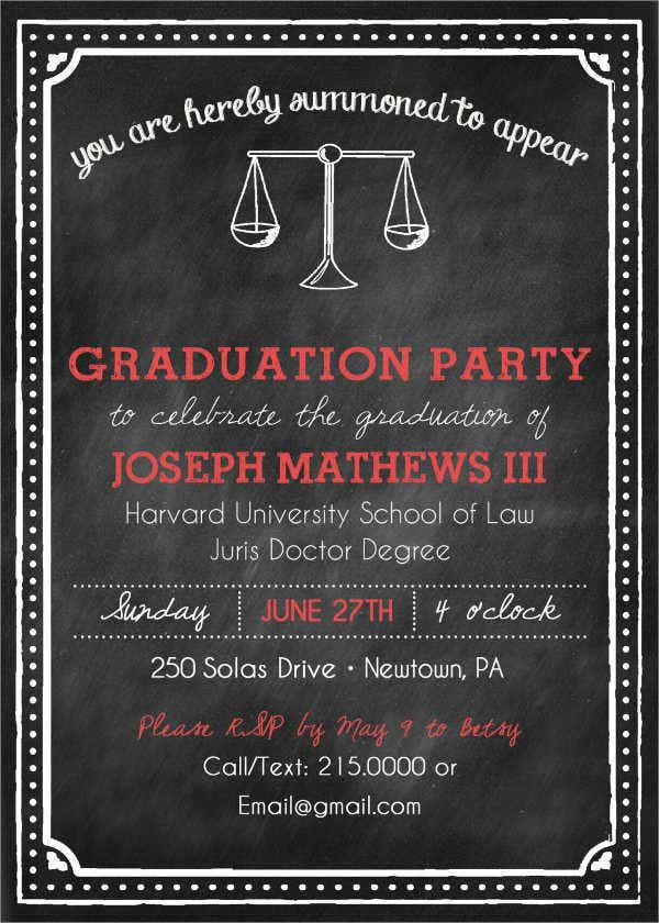 cheap law school graduation invitation - Law School Graduation Invitations