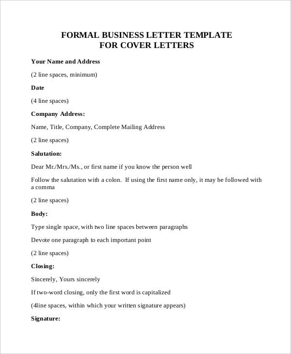 Formal Business Letter In PDF