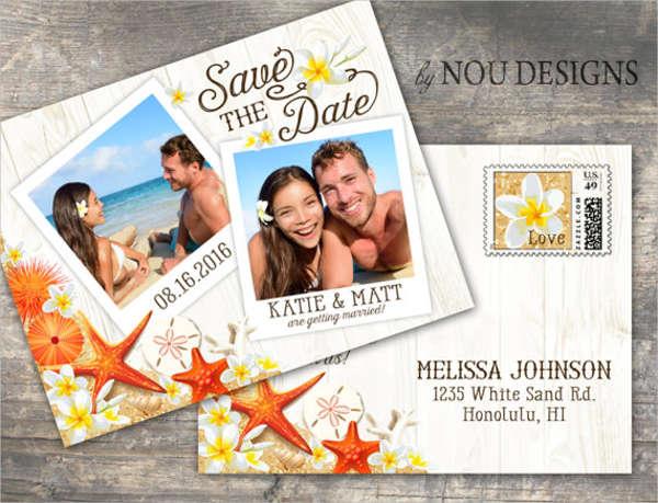 rustic beach wedding invitation
