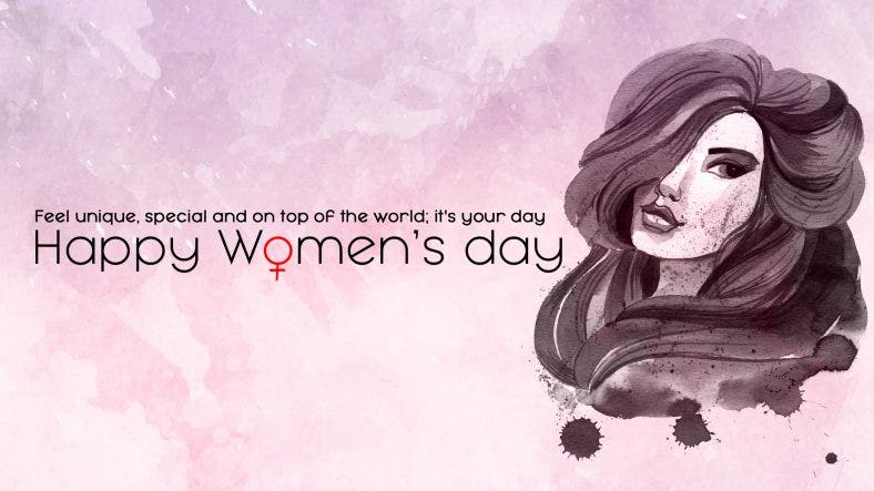 Women's Day Background Desktop Template