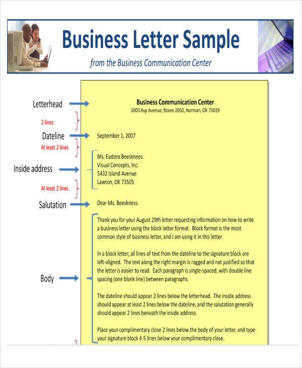 44 business letter format free premium templates sample business communication ou details file format spiritdancerdesigns Gallery