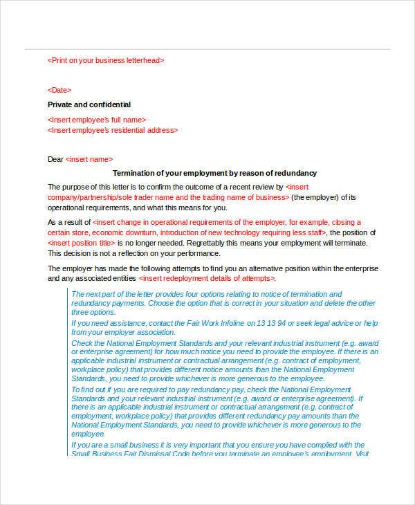sample employee termination letter3