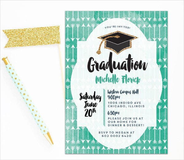 41 Graduation Invitation Designs – Graduation Dinner Invitations