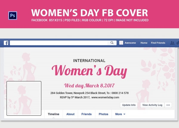 Women's Day Facebook Cover Page Template