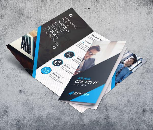 tri fold creative company brochure