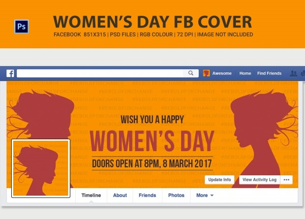 Happy Women's Day Facebook Cover Page
