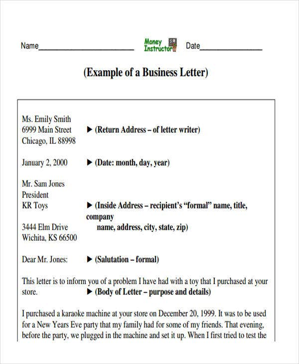 43 Business Letter Formats – Professional Business Letters