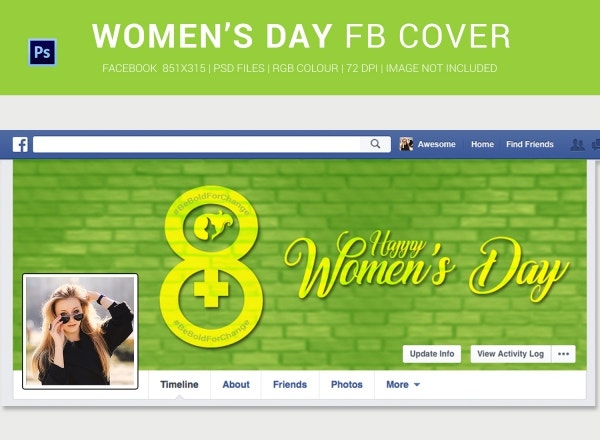 Printable Women's Day Facebook Cover Page