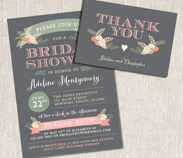 -Diy Spring Bridal Shower Invitation