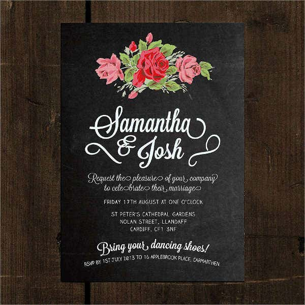 chalkboard-floral-wedding-invitation