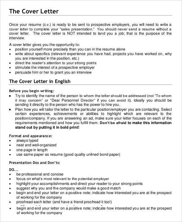 Professional Business Cover Letter Template