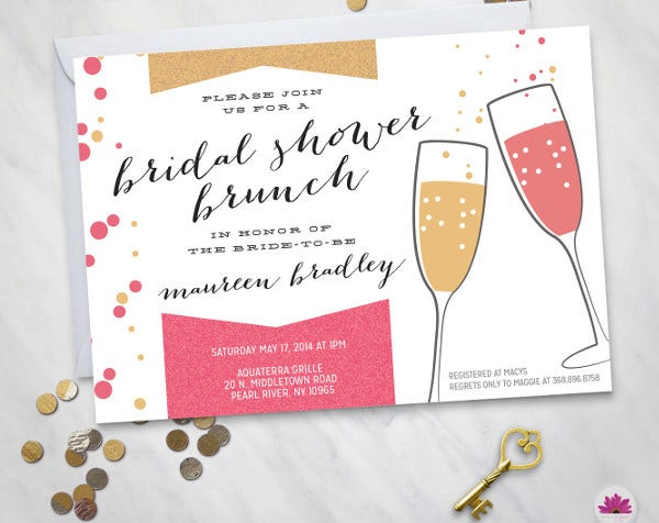-Brunch Bridal Shower Invitation Card