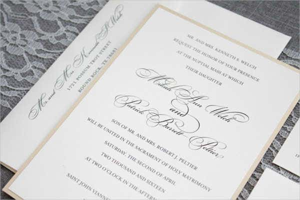 Formal Wedding Invitation Templates: 42+ Wedding Invitations Templates In PDF