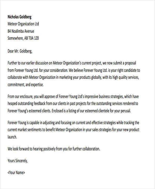 44 business letter format free premium templates formal business proposal altavistaventures Images