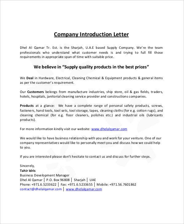 Business introduction letters business letter of intent templates formal letter sample template free word pdf documents spiritdancerdesigns Choice Image