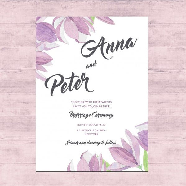 free wedding card