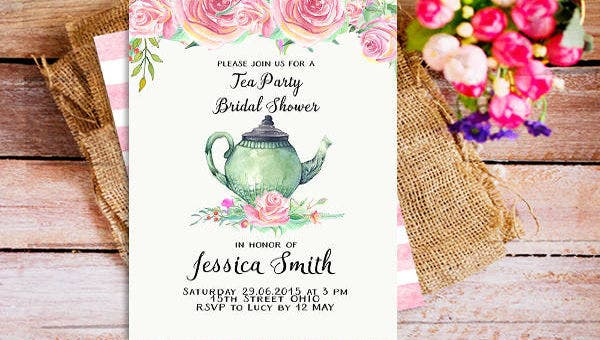 image relating to Free Printable Bridal Shower Invitation Templates called 53+ Printable Bridal Shower Invitation Models - PSD, AI