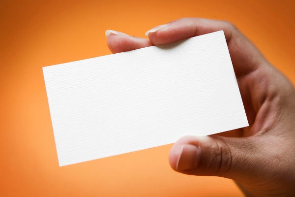 -Blank Business Card