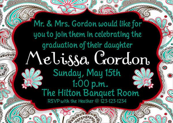 graduation birthday party invitation