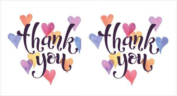 picture relating to Free Printable Thank You Card Template named 40+ Free of charge Card Templates - JPG, PSD, Vector EPS Cost-free