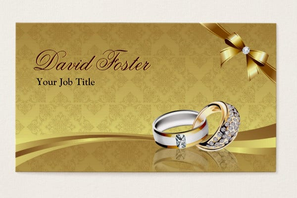 jewelery business card