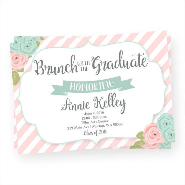 graduation brunch party invitation1