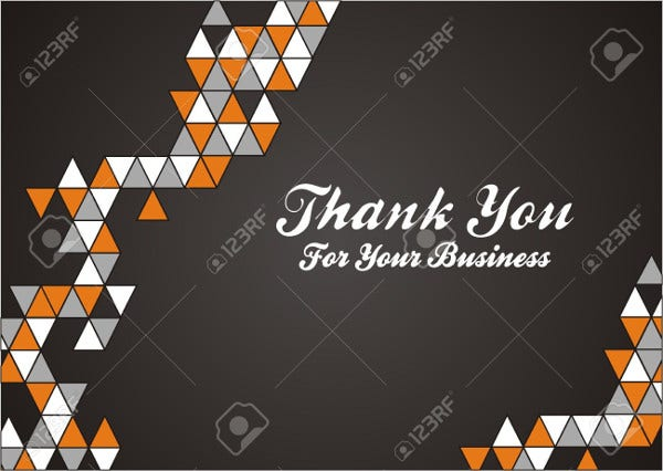 free business thank you card