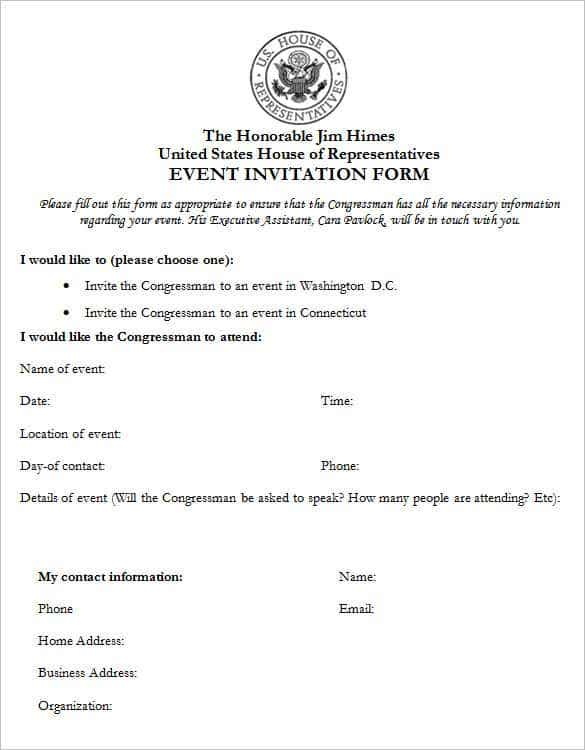 event invitation form template min