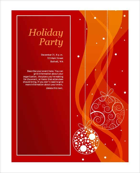 free printable holiday invitation template min
