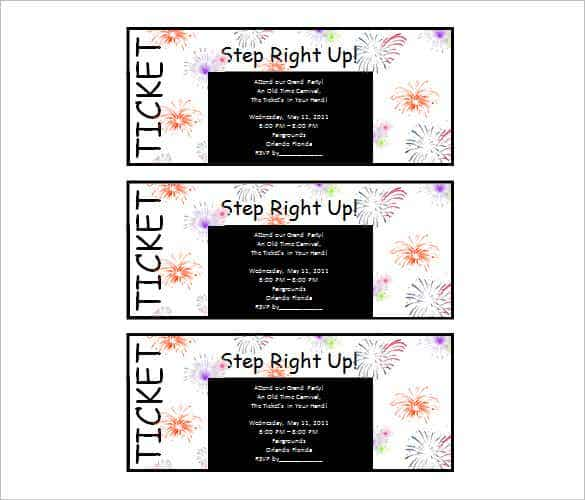 Microsoft Word Ticket Invitation Template Free  Free Microsoft Word Invitation Templates