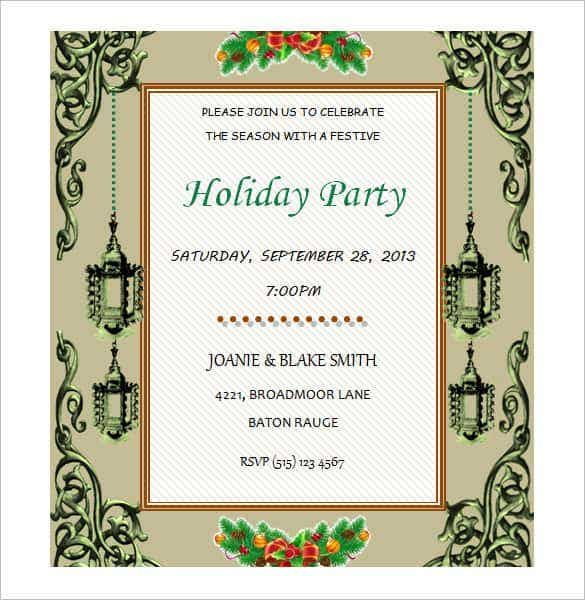 50 Microsoft Invitation Templates Free Samples Examples – Word Party Invitation Template