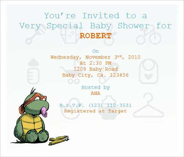 50 Microsoft Invitation Templates Free Samples Examples – How to Word a Baby Shower Invitation