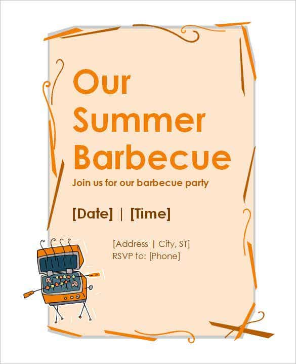 bbq invitation wording min