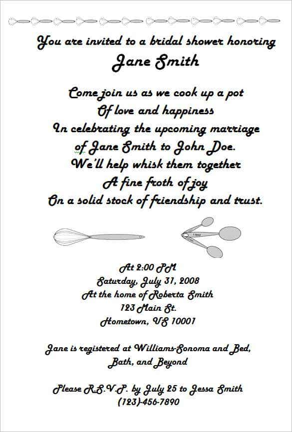 bridal shower invitation wording monetary gifts min