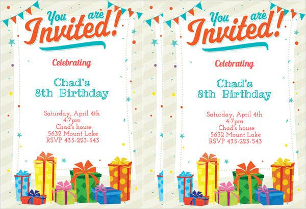 free birthday invitation cards