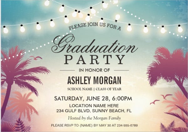 outdoor graduation bbq invitation
