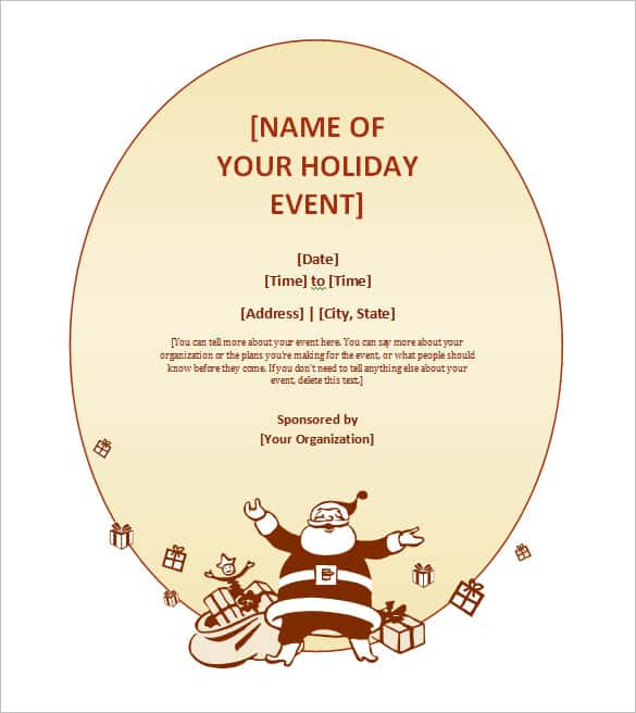 free printable christmas invitation templates min