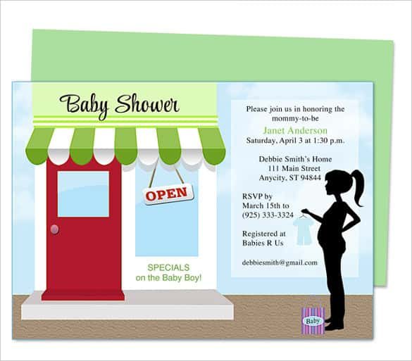 68 microsoft invitation template free samples examples format storefront baby shower invitation template download toneelgroepblik Gallery