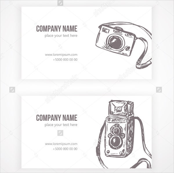 photography visiting card