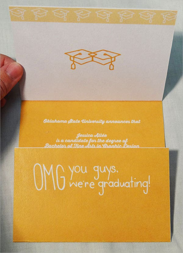 graduation thank you card invitation