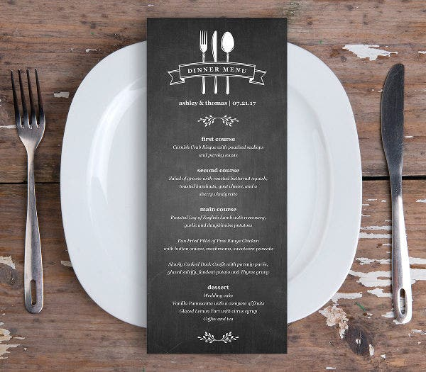 diy menu card