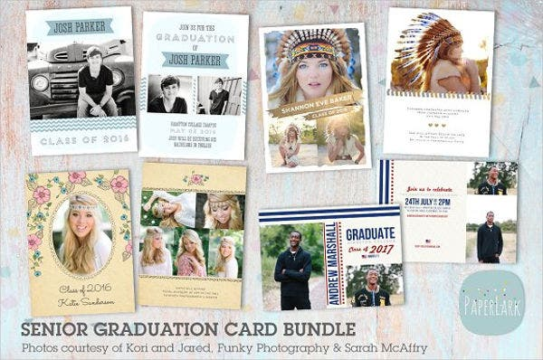 graduation business card invitation