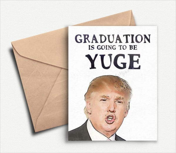 funny graduation invitation card
