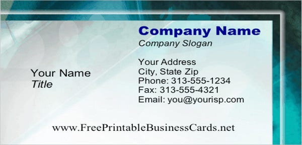 free-printable-business-card