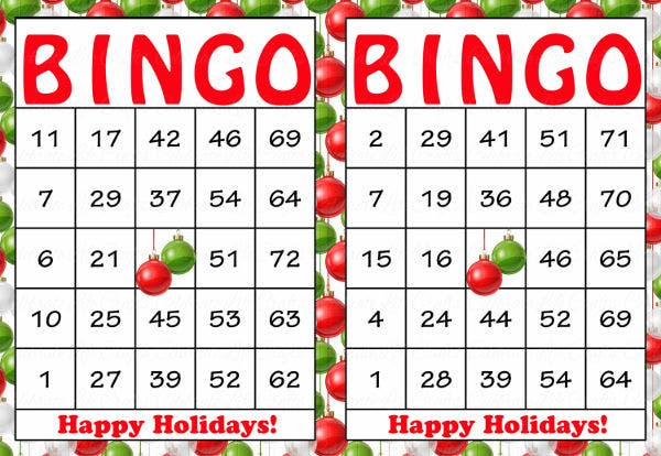 -Christmas Bingo Card