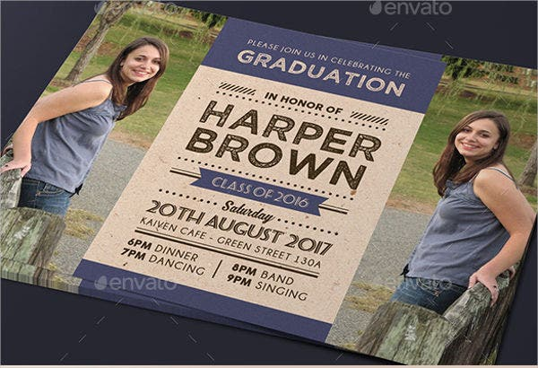 modern graduation day invitation