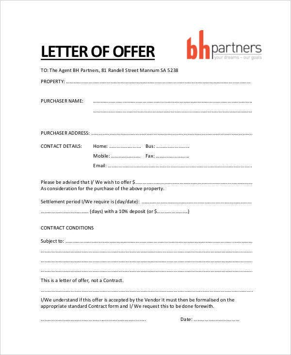 34 Offer Letter Examples Free Word PDF Documents Download Free