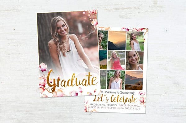 graduation photo day invitation